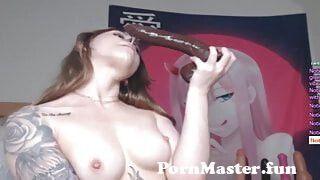 Sxy Sasha Chokes On Brwn Dildo, Fcks Pssy Lush & Vibrator from xxxx 9 sxy com Video Screenshot Preview