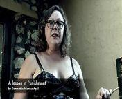 Dominatrix Mistress April - A lesson in punishment from hard punishment lesson