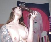 Sxy Sasha Chokes On Brwn Dildo, Fcks Pssy Lush & Vibrator from gay naked hunksone sxy video com