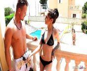 CRAZY HOLIDAY CHEATING THREESOME SEX - GERMAN TEEN LULLU GUN from crazy holiday dasha 11