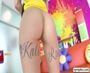 NYMPHO Sliding into hot blonde Kali Roses fuck holes from song kali sikh
